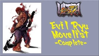 Ultra Street Fighter IV - Complete Evil Ryu Move List