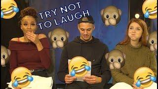 Försöker att inte skratta med vatten i munnen - Kadiatou, William & Nathalie | Idol Sverige (TV4)