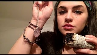 ASMR REIKI HEALING: Negative Energy Removal | Chakra & Aura Cleansing | Smudging | Crystals | Om