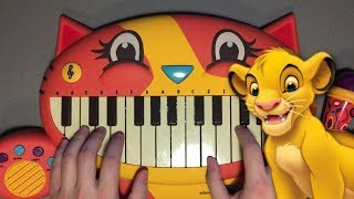 Can You Feel The Love Tonight but it's played on a Cat Piano