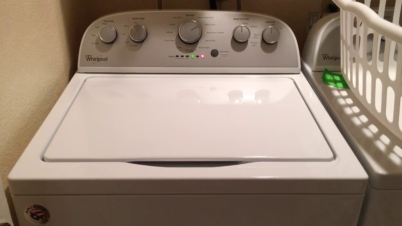 Whirlpool Wtw5000dw Final Rinse Sounds And Noises Youtube