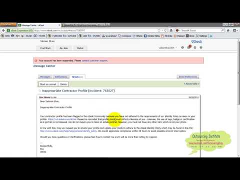 Odesk 22 Account Suspend Reason and Solution