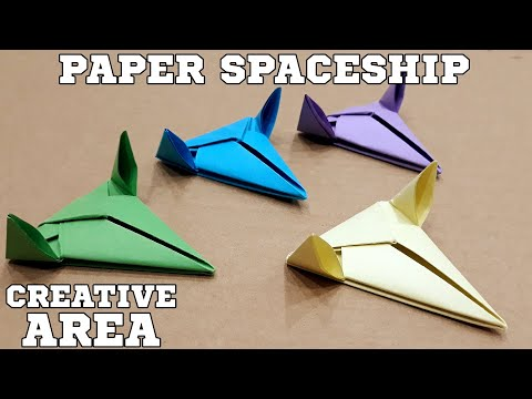 Origami Spaceship - How to Make an easy  diy origami Spaceship with paper -  Video tutorial.