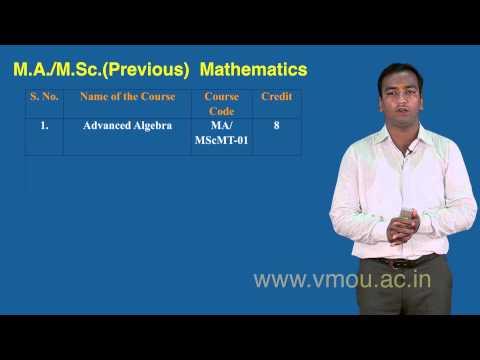 Post Graduate Programme in  Mathematics