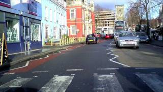 Bristol. Bristol. Driving up Gloucester Road, Bristol, UK.