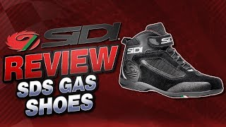Sidi SDS Gas Riding Shoes Review from Sportbiketrackgear.com