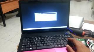 Notebook Samsung NP300E4C Problema Arranque