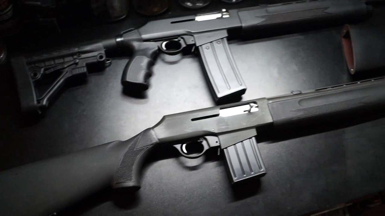SAS-12 - Collapsible Pistol Grip Stock from Mossberg 500 Installed!
