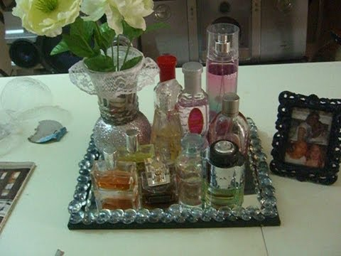 DIY charolaespejo para tus perfumes  YouTube
