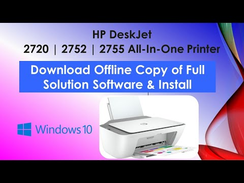 HP DeskJet 2700 series printer : Download Offline Copy of Software and Install on Win 10 computer