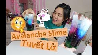 😱Trải nghiệm Làm Avalanche Slime  ❄️Slime Tuyết Lở❄️Trải nghiệm lần đầu, kết quả thật là ngộ ghê 😅