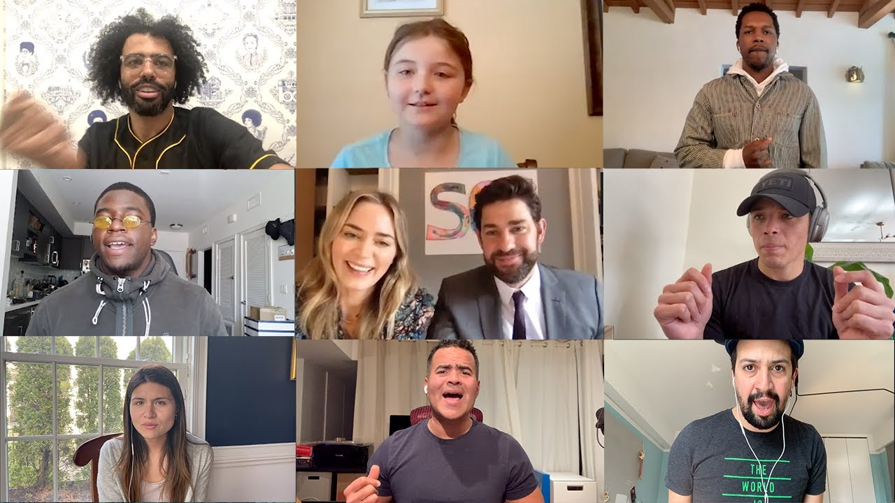 Hamilton Cast Zoom Surprise: Some Good News with John Krasinski (Ep. 2)