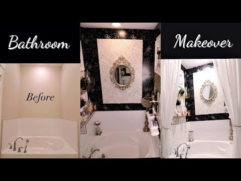 DIY BATHROOM HIGH END LOOK FOR LESS WITH DOLLAR TREE/WALMART ITEMS!