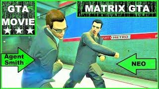 GTA 5 Online Matrix Neo VS Agent Movie , Metro / Subway Scene , Jump Scene , Movie Editor