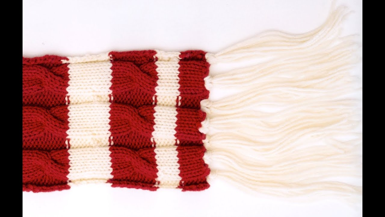 Knitting Pattern Scarf 6mm Needles : How to knit a cable knit scarf with knitting needles - YouTube