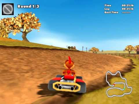 Les T Play Crazy Chicken Kart 2 Racing Game Youtube