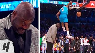 Hamidou Diallo SUPERMAN ELBOW Dunk Over Shaq | 2019 NBA All-Star Dunk Contest - Round 2