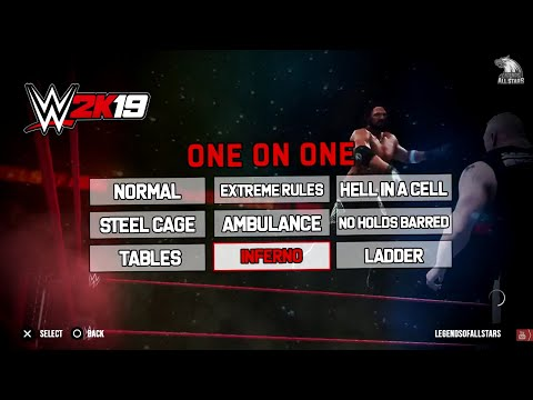 WWE 2K19 ALL 30+ MATCH TYPES - Ambulance Match, Buried Alive & More | Concept/Notion | PS4/XB1