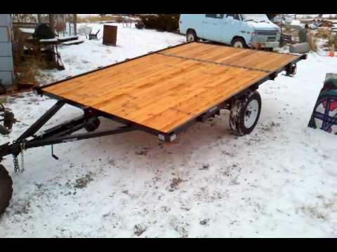 8x12 snowmobile tilt trailer   youtube