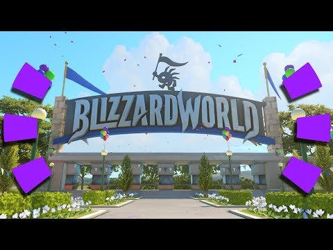 Overwatch -  NEW MAP GAMEPLAY on PTR (Blizzard World)