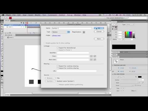 Flash Actionscript Tutorial 1 - Play and Pause Buttons