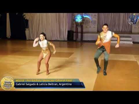 LETICIA & GABRIEL CAMPEONES MUNDIALES BACHATA CABARET WORLD SALSA SUMMIT 2018