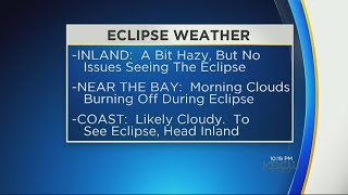 ECLIPSE WEATHER:  Where can you see tomorrow's eclipse