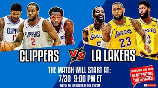 Los Angeles Lakers vs Los Angeles Clippers | Lakers vs Clippers NBA Live Stream | NBA Stream