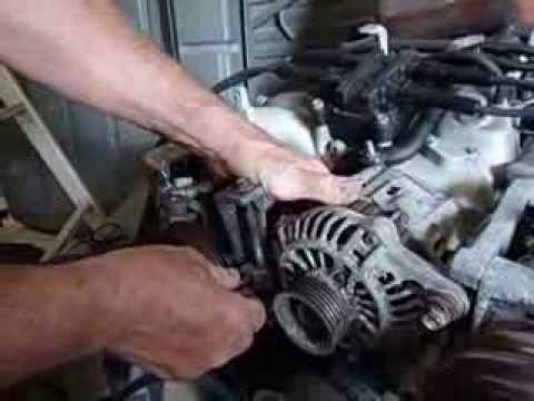 how to change a subaru alternator, REMOVE BATTERY CABLE FIRST - YouTube