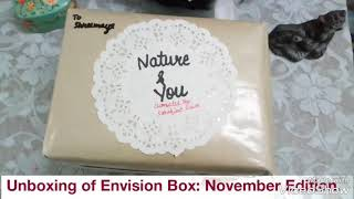 Unboxing of Envision Box: November Edition- The theme: Nature & You