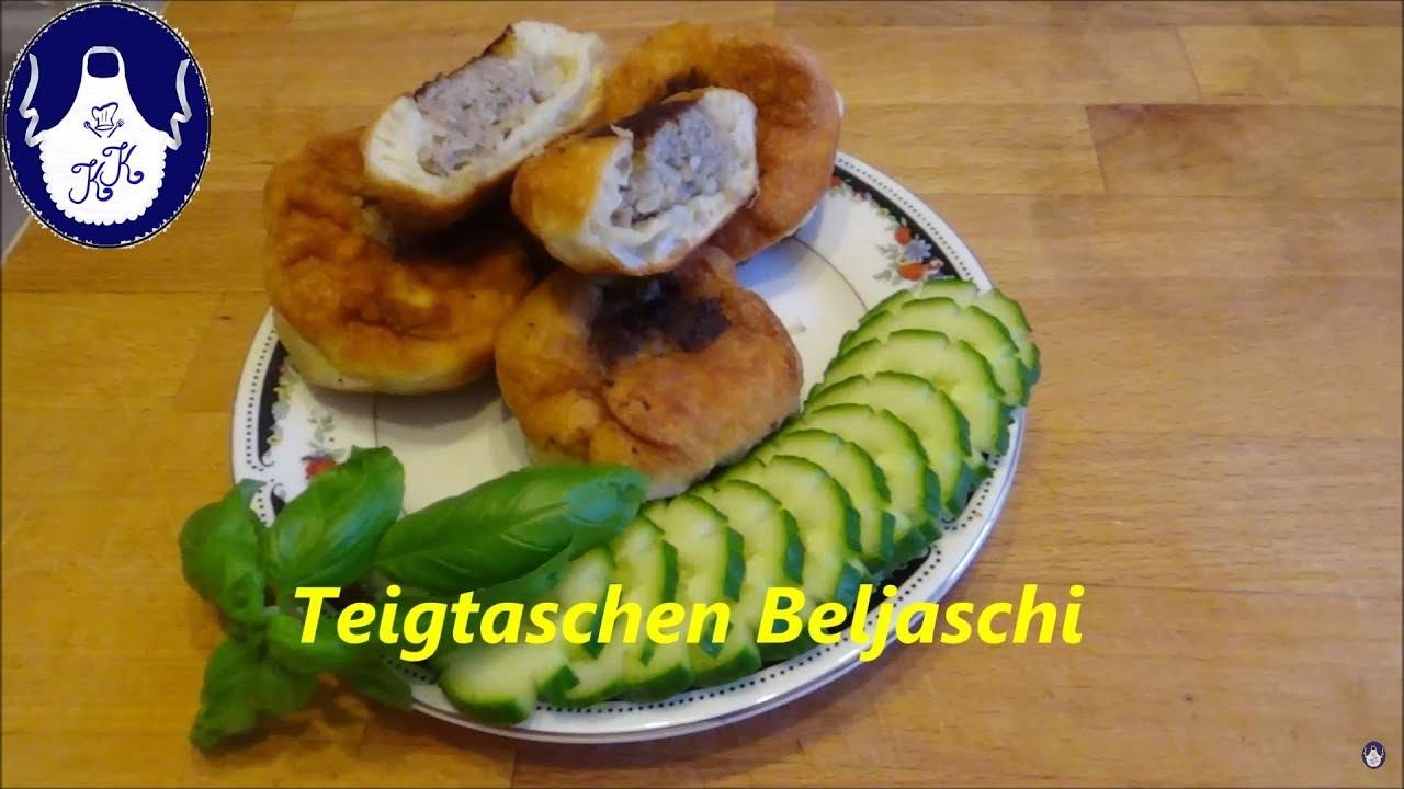 Gefüllte Teigtaschen , Beljaschi .... Russische Küche - YouTube