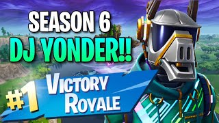"Season 6 ""DJ Yonder"" Skin!! (12 Kill Solo Victory) - Fortnite: Battle Royale Gameplay"
