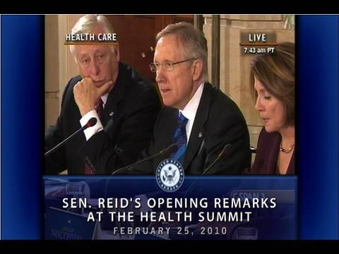 Sen. Reid's Opening Remarks at Health Care Summit
