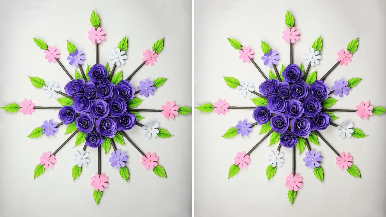 Paper Flower Wall Hanging: DIY Hanging Flower | Wall ...