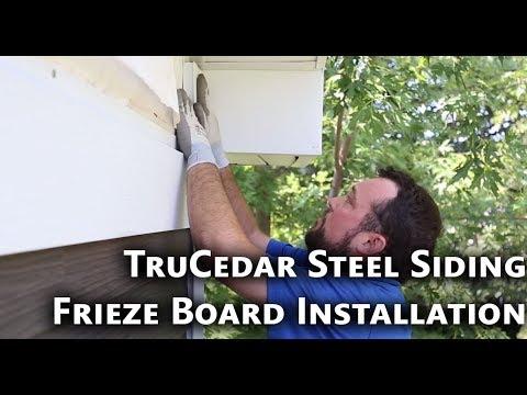TruCedar Steel Siding   Frieze Board Installation2