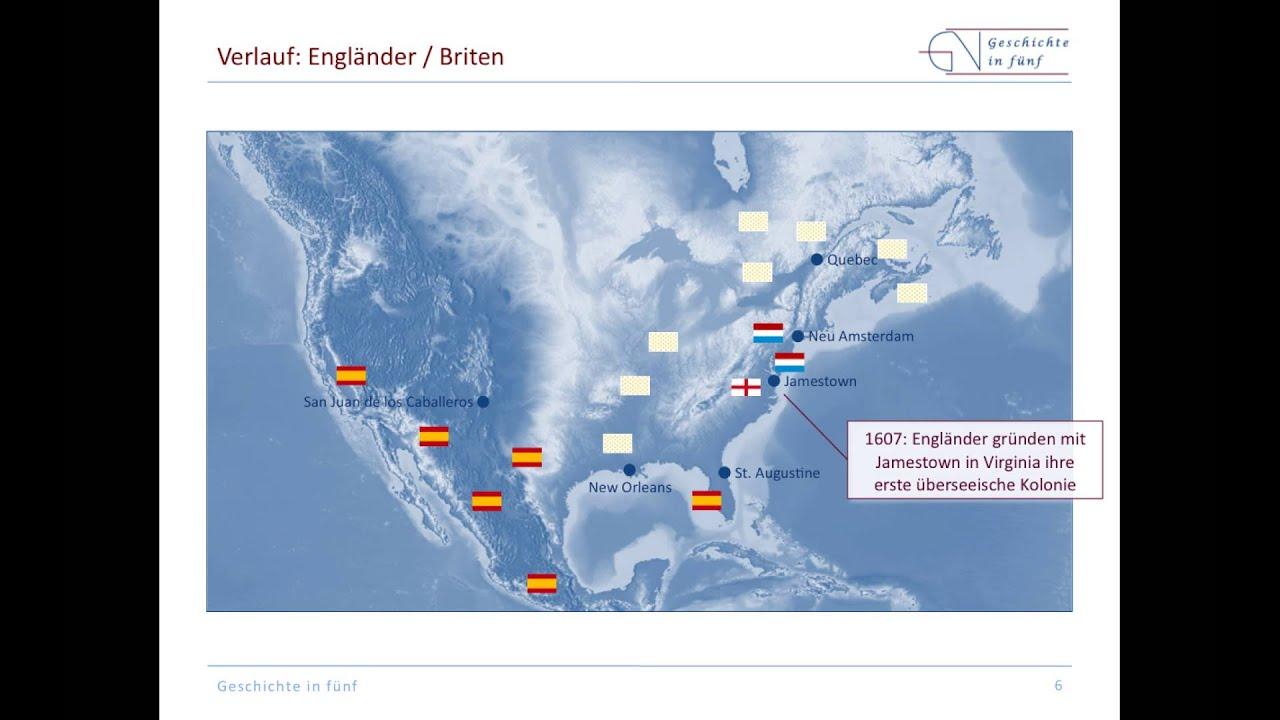 Kolonialisierung Nordamerikas 1492 1754 Youtube