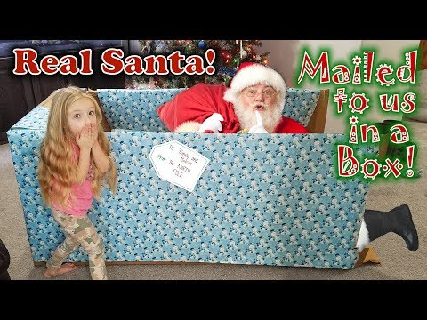Mailing Myself to Santa at the North Pole GONE SO RIGHT!!! What or WHO is in the Box?