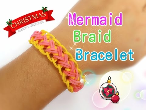 Mermaid Braid Rainbow Loom Monster Tail Bracelet Tutorial ...