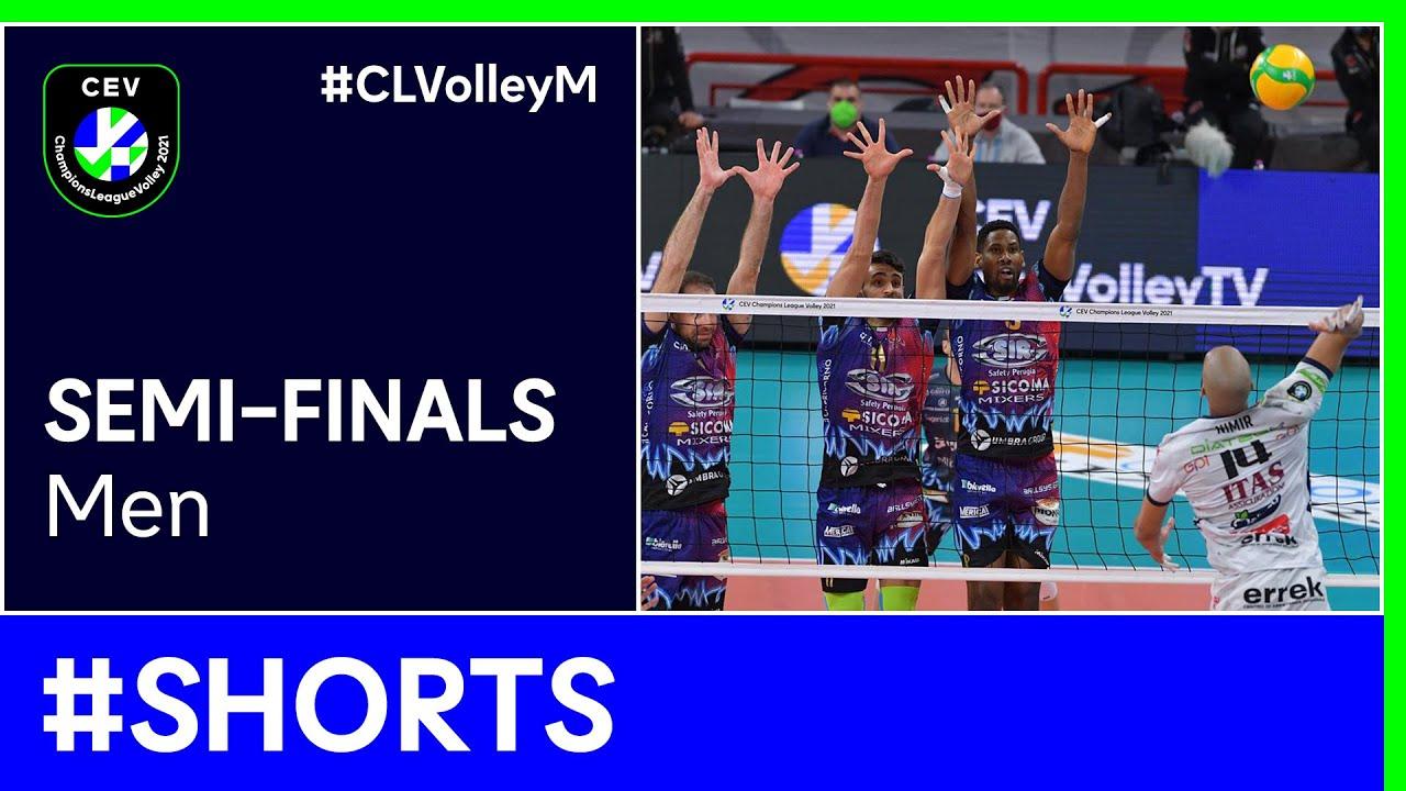 Sir Sicoma Monini PERUGIA vs. TRENTINO Itas #Shorts - #CLVolleyM