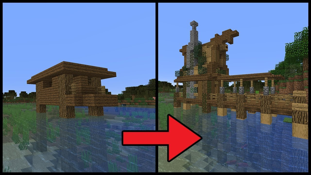minecraft transforming a witch hut minecraft 1 13