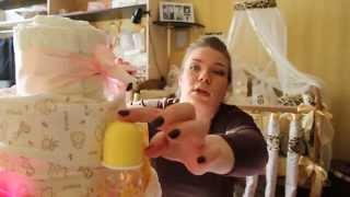 Подарок для новорожденного малыша!(Подарок для малыша своими руками, торт из памперсов легко сделать, приятно дарить! Это видео создано с помощ..., 2014-03-01T07:44:08.000Z)