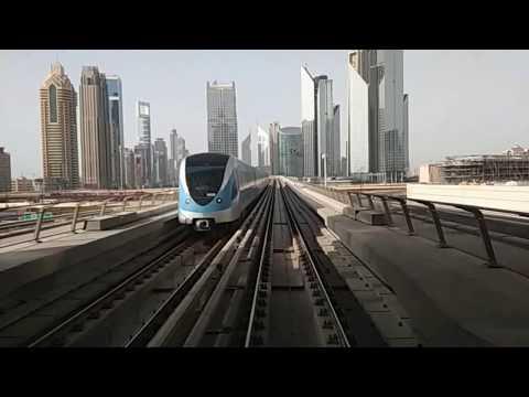 Awesome Dubai Metro View | Business Bay to BurJuman