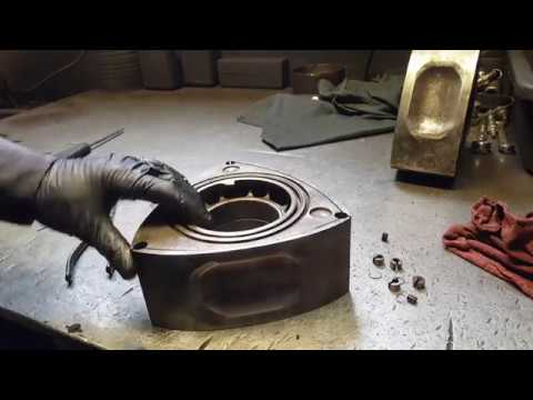 Mazda rx7 mazda rx8 rotary engine rebuild;Cleaning the rotors