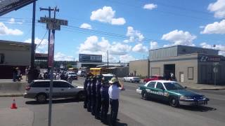 Procession for Sgt. Greg Moore goes through Spokane.