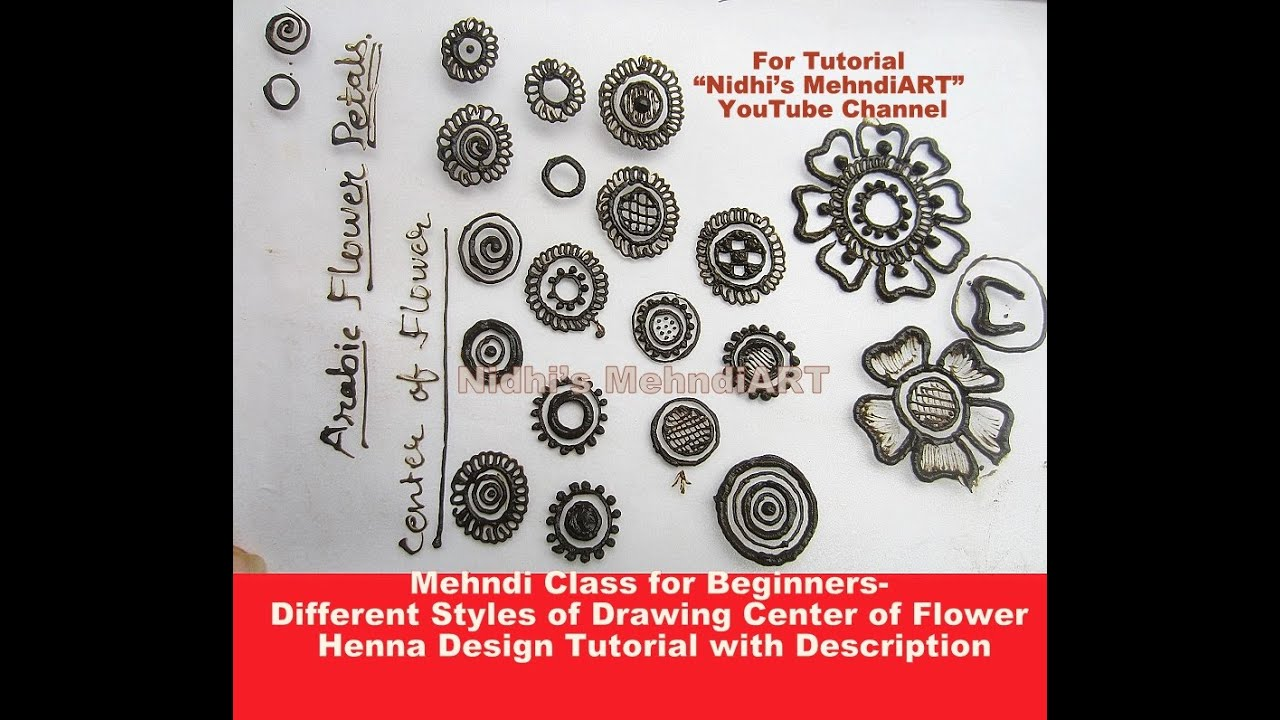 Mehndi Designs Class : Mehndi class for beginners different styles of drawing