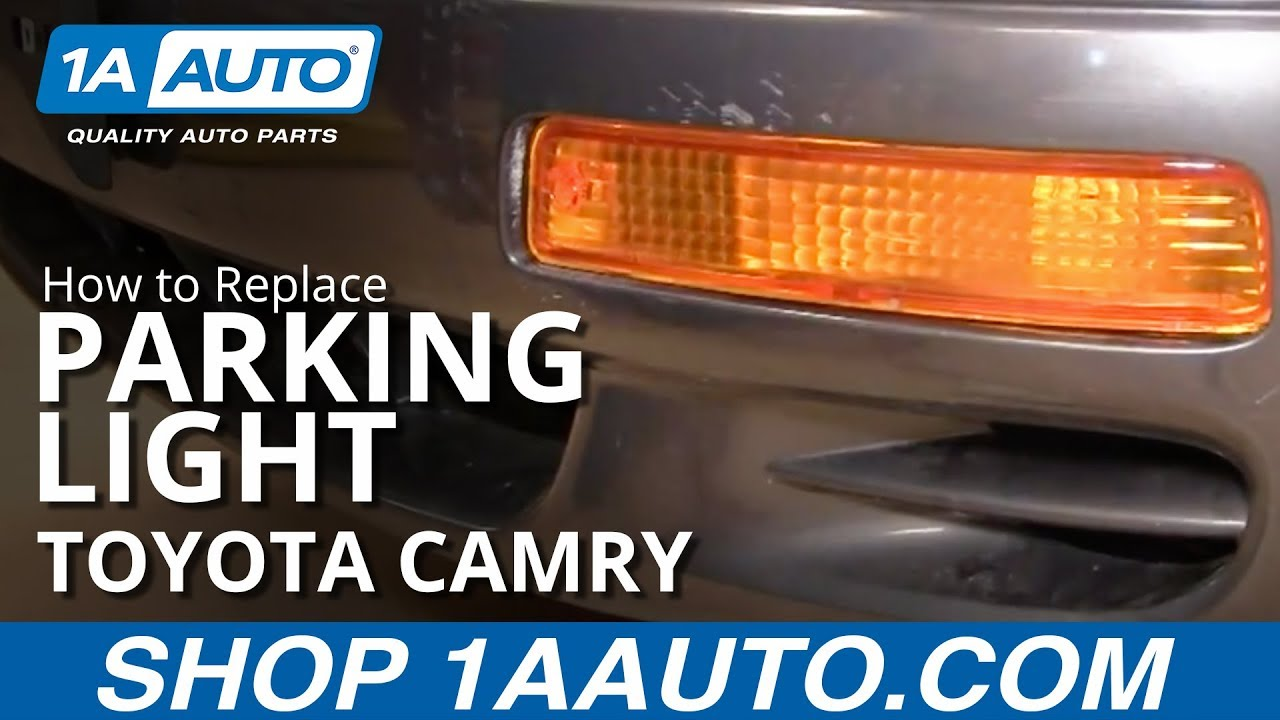 how to install replace front bumper signal light toyota camry 95 96 1aauto com [ 1280 x 720 Pixel ]