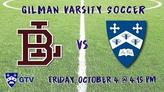 Gilman Varsity Soccer vs. Boys' Latin