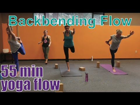 55 Minute Yoga Class Backbending Flow Youtube