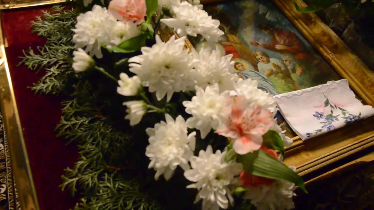 Как украсить икону живыми цветами - YouTube 844fb5a30eb