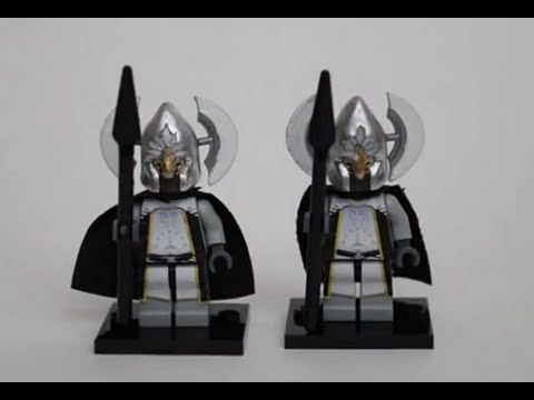Lego Lord of the Rings - Gondor Fountain Guard - YouTube
